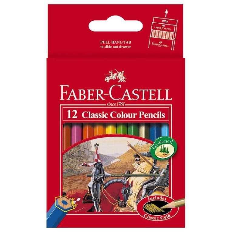 Faber-Castell Classic Colour Pencils Half Size 12 Pack, , hi-res