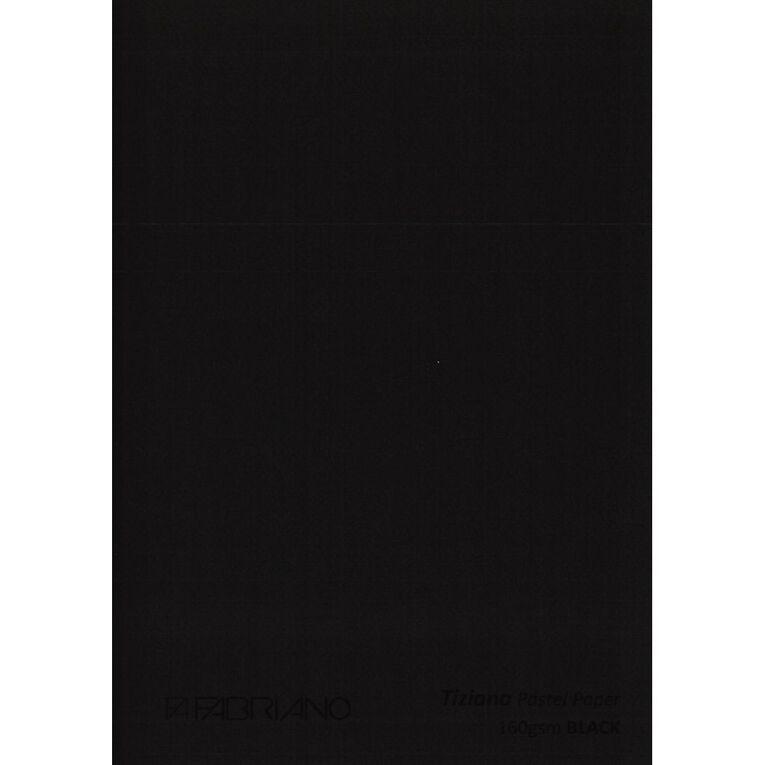 Fabriano Tiziano Pastel Paper 50cm x 65cm Black, , hi-res