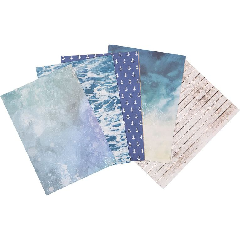 Uniti Designer Paper Pack A4 24 Sheet Oceania, , hi-res