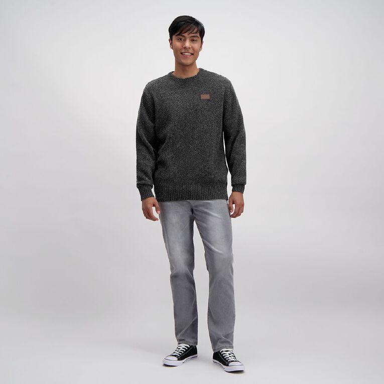 Back Country Men's Crewneck Wool Jumper, Charcoal, hi-res