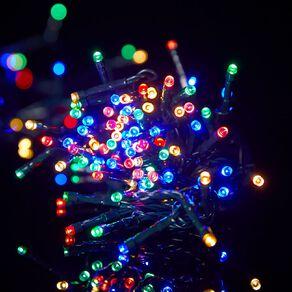 Wonderland Plug-in String Lights 17.5m Dark Wire Multi-coloured 200 LED