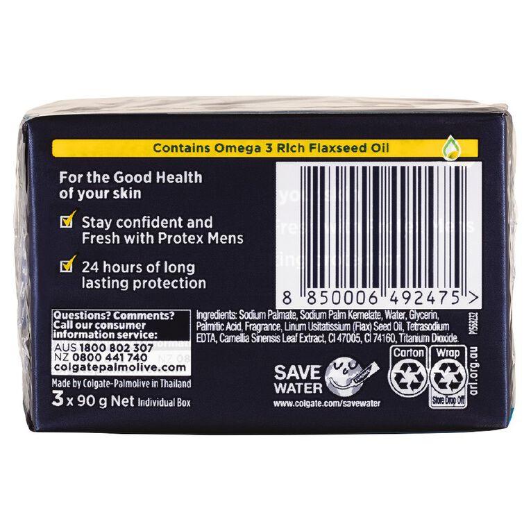 Protex For Men Bar Soap 90g 3 Pack, , hi-res