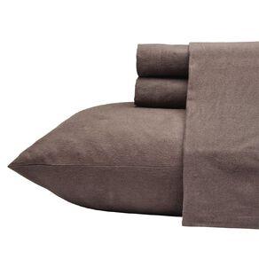 Living & Co Sheet Set Cotton Flannelette Charcoal