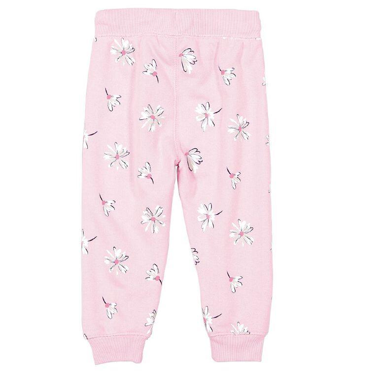 Young Original Toddler Printed Trackpants, Pink Mid, hi-res
