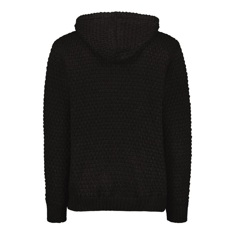 H&H Men's Pullover Hood Lined Jumper, Black, hi-res
