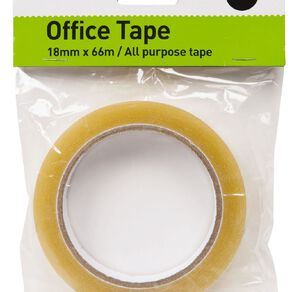WS Office Tape 18mm x 66m Large Core Clear