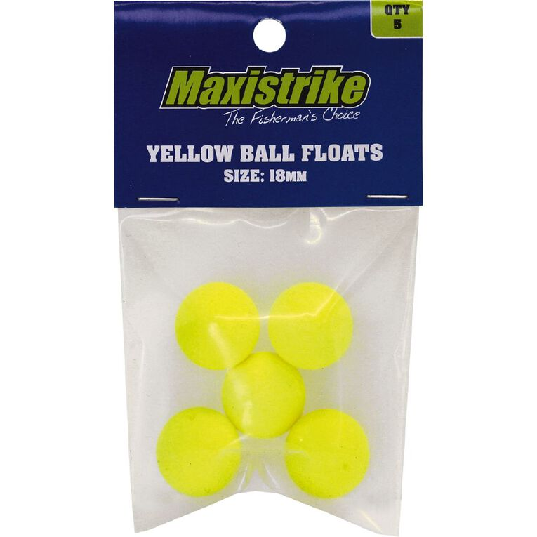Maxistrike Yellow Ball Floats 18mm 5 Pack, , hi-res