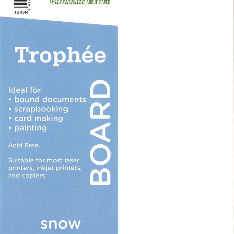 Trophee Card 210gsm 250 Pack Snow White A4, , hi-res