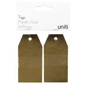 Uniti Tags 24 Piece Metallic Gold