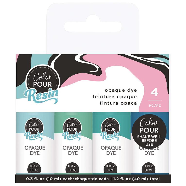American Crafts Color Pour Dye Opaque Cool 89ml 4 Pack, , hi-res