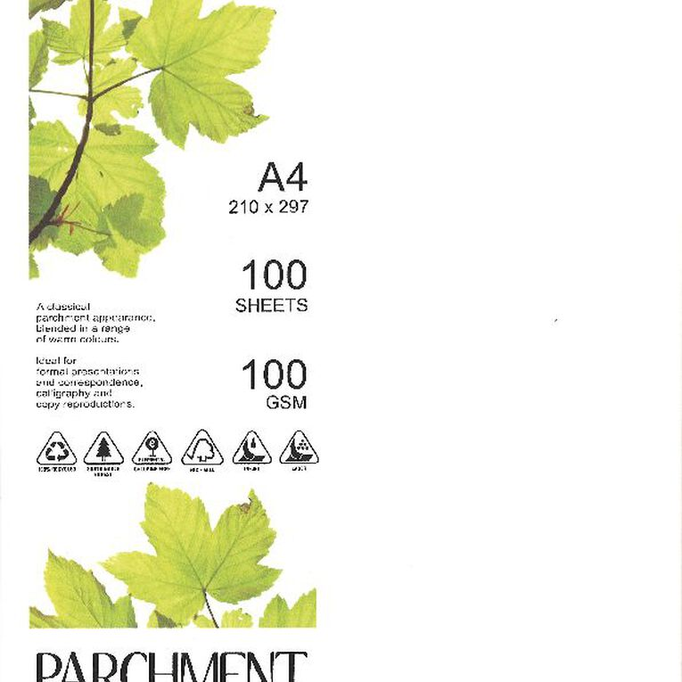 Direct Paper Parchment Paper 100gsm 100 Pack Nova White A4, , hi-res