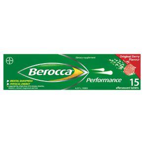 Berocca Performance Effervescent Tablets Original Flavour 15s