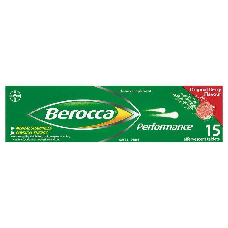 Berocca Performance Effervescent Tablets Original Flavour 15s, , hi-res