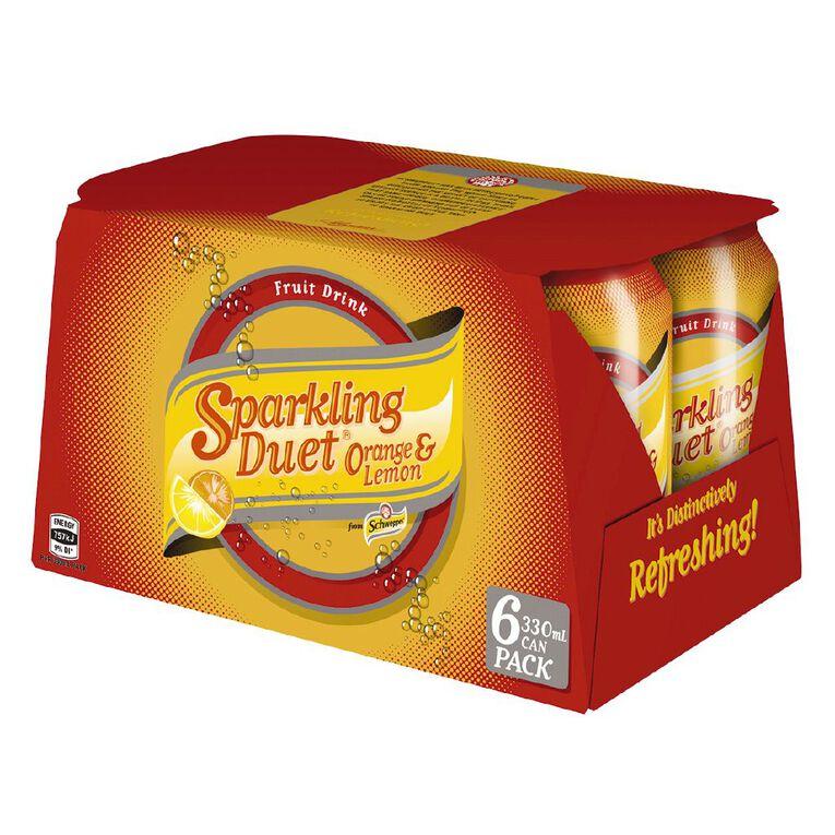 Schweppes Sparkling Duet 330ml 6 Pack, , hi-res
