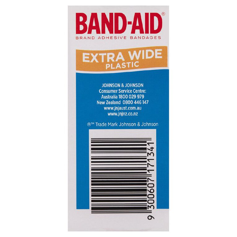 Band Aid Plastic Strips Extra Wide 40s, , hi-res