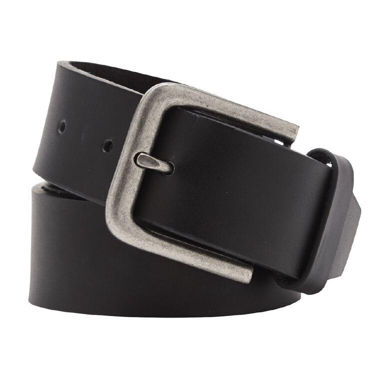 H&H Men's Jeans Belt, Black, hi-res