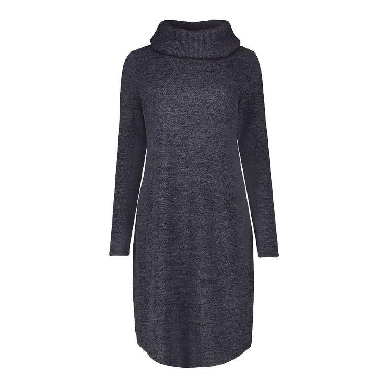 H&H Women's Cowel Neck Dress, Blue Dark, hi-res