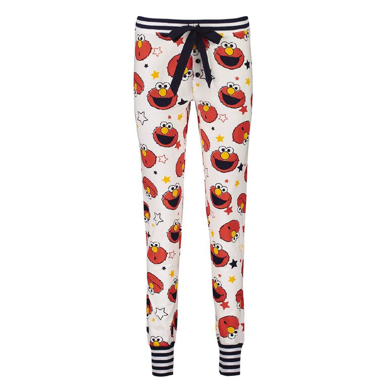 Sesame Street Women's Stretch Pyjama Pants, White, hi-res