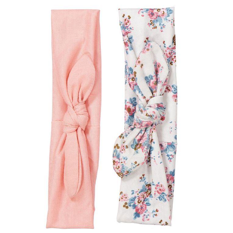 Colour Co. Fabric Hair Bands Peach 2 Pack, , hi-res