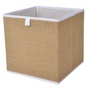 Living & Co Mason Cube Storage Insert Jute