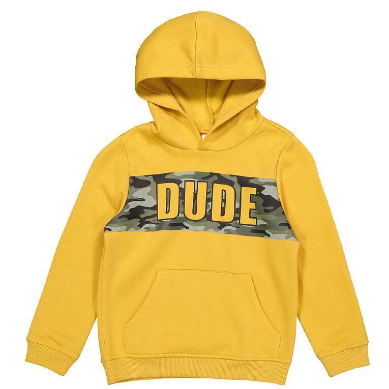 Young Original Pull Over Print Hoodie Sweat, Yellow Dark, hi-res