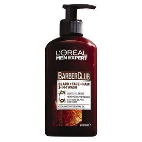 L'Oreal Paris Men Expert Barber Club Beard & Face & Hair Wash 200ml