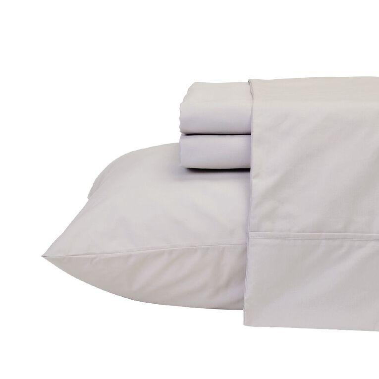 Living & Co Sheet Set Cotton 400 Thread Count Grey Single, Grey, hi-res