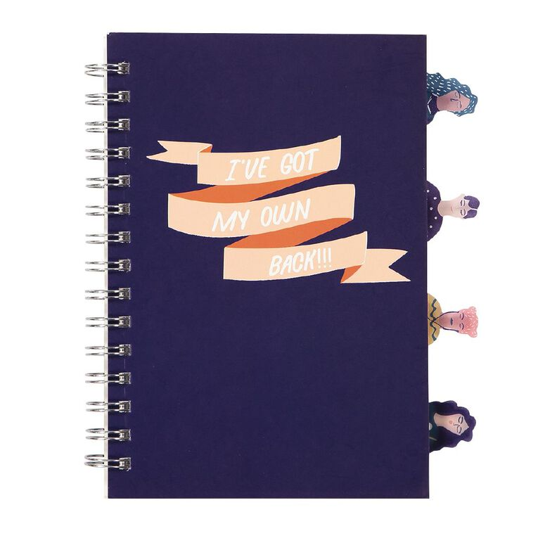 Uniti Empowerment Project Notebook Hardcover With Tabs Navy A5, , hi-res