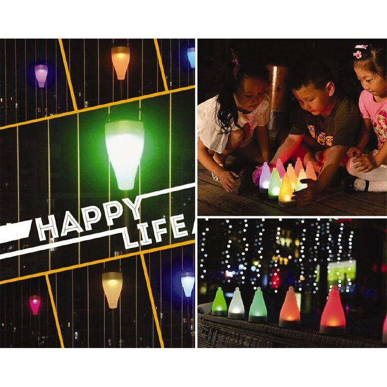 Kiwi Garden Solar Plastic Colour Light 4 Pack, , hi-res