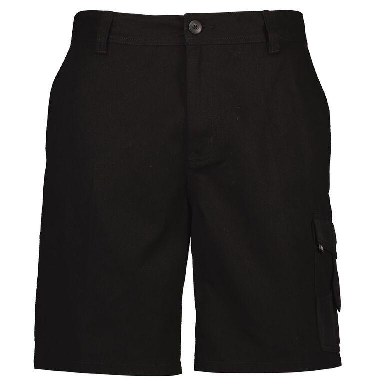 Rivet Men's Utility Shorts, Black, hi-res image number null