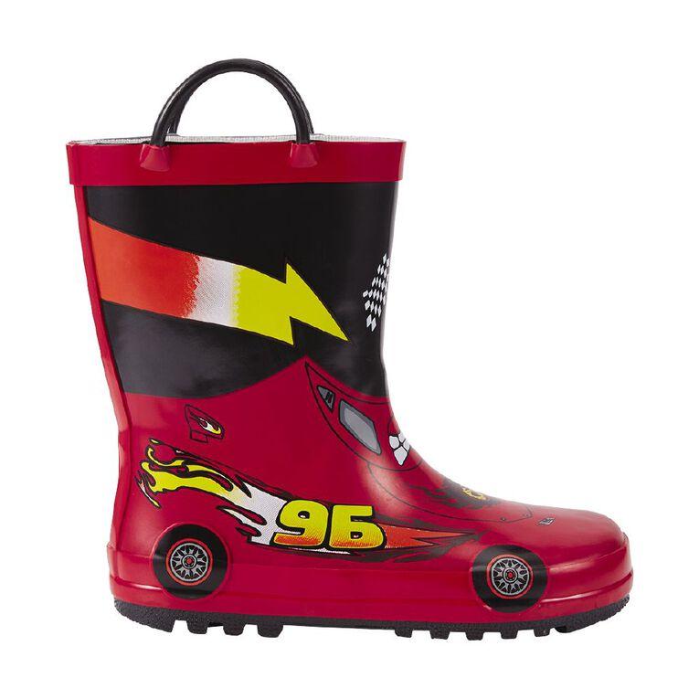 Young Original Kids' Vroom Gumboots, Red W21, hi-res