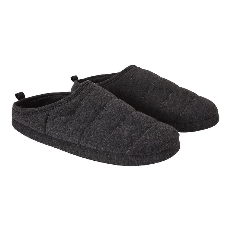 H&H Ted Scuff Slippers, Grey, hi-res