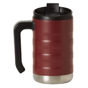 Living & Co Living & Co Stainless Steel Mug with Handle Red 470ml