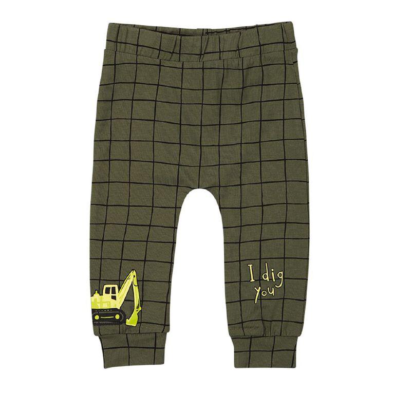Young Original Baby Printed Leggings, Green Mid, hi-res