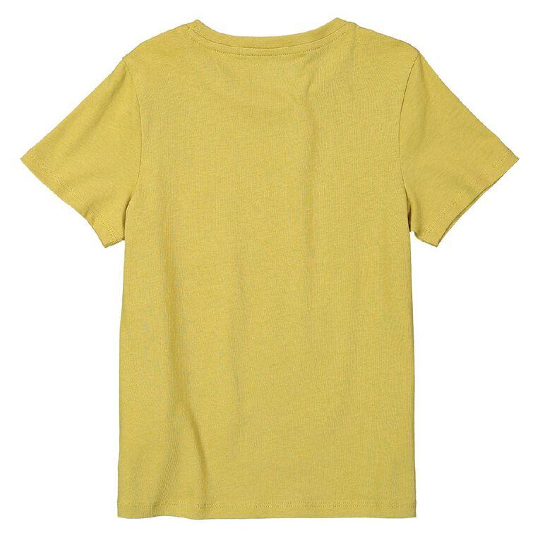 Young Original Short Sleeve Essential Print Tee, Tan, hi-res