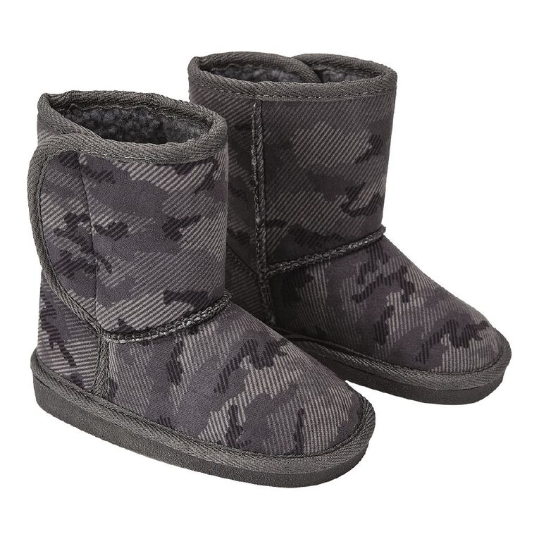 Young Original Kids' Printted Slipper Boots, Grey, hi-res