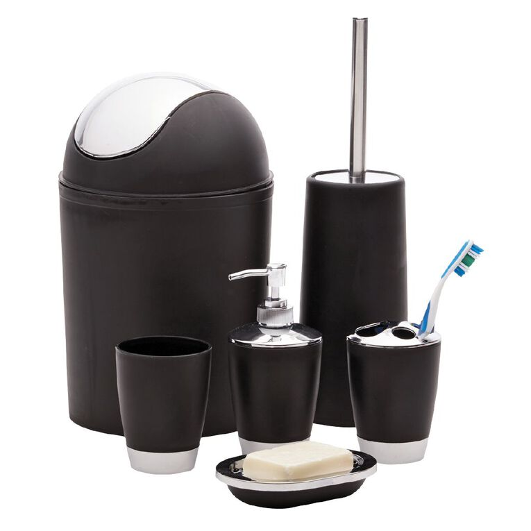 Living & Co Soap Dispenser Black 300ml, Black, hi-res