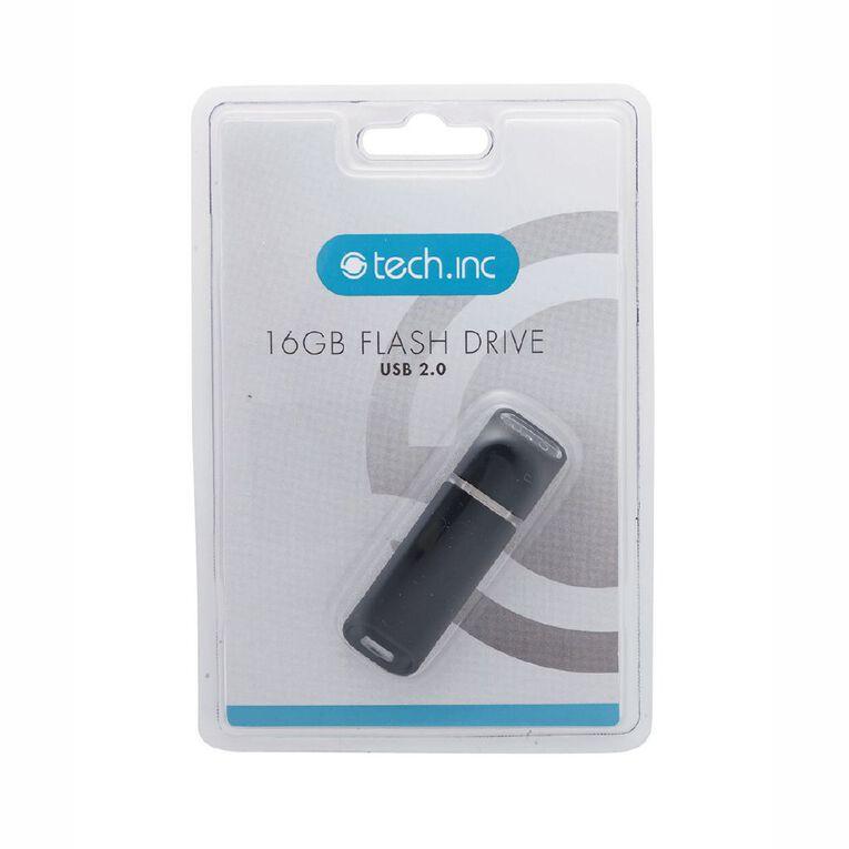 Tech.Inc 16GB USB Flash Drive Black, , hi-res