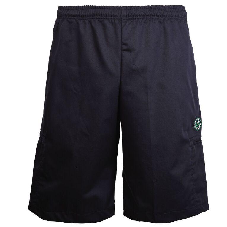 Schooltex Mount Roskill Primary School Cargo Shorts, Navy, hi-res