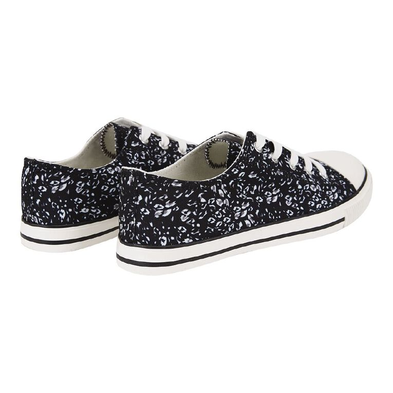 H&H Polly Printed Shoes, Black/White, hi-res