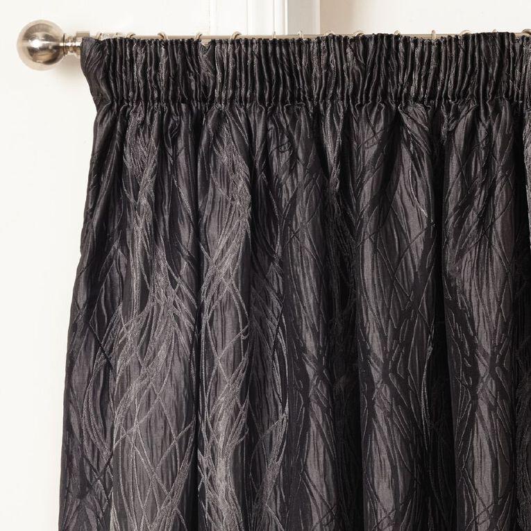 Living & Co Dune Curtains Grey Dark 150-230cm Wide/205cm Drop, Grey Dark, hi-res