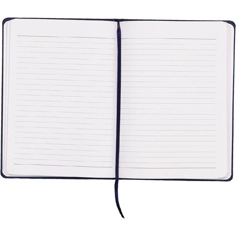 WS Hardcover PU Notebook Navy A5, , hi-res