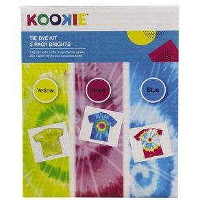 Kookie Tie Dye Kit Bright Multi-Coloured 3 Pack