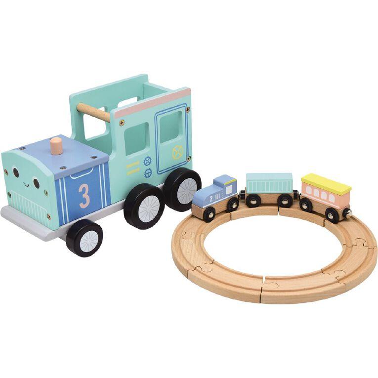 Play Studio 2 In 1 Wooden Train Set, , hi-res