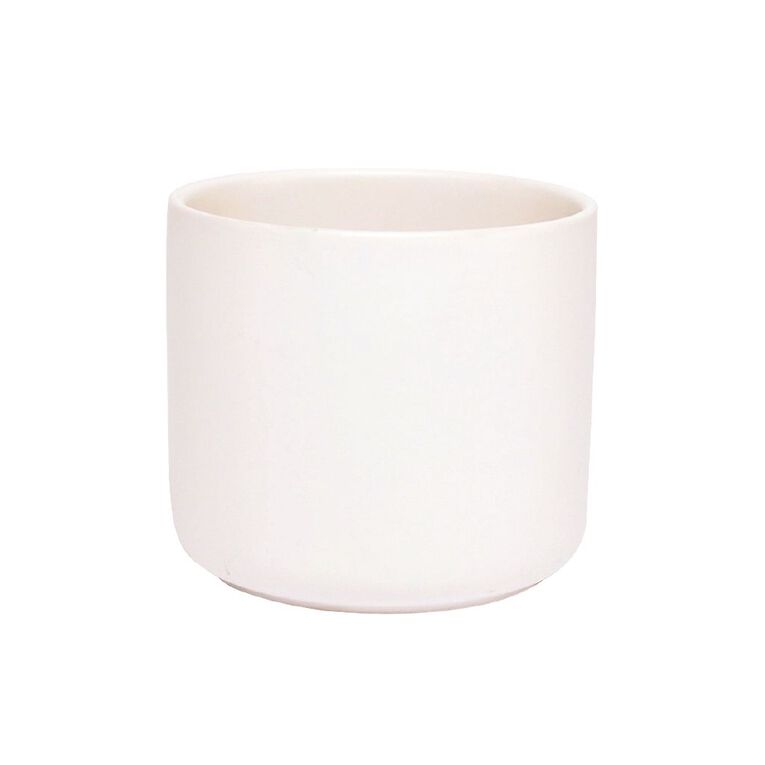 Kiwi Garden Rangitoto Pot White 12cm, , hi-res