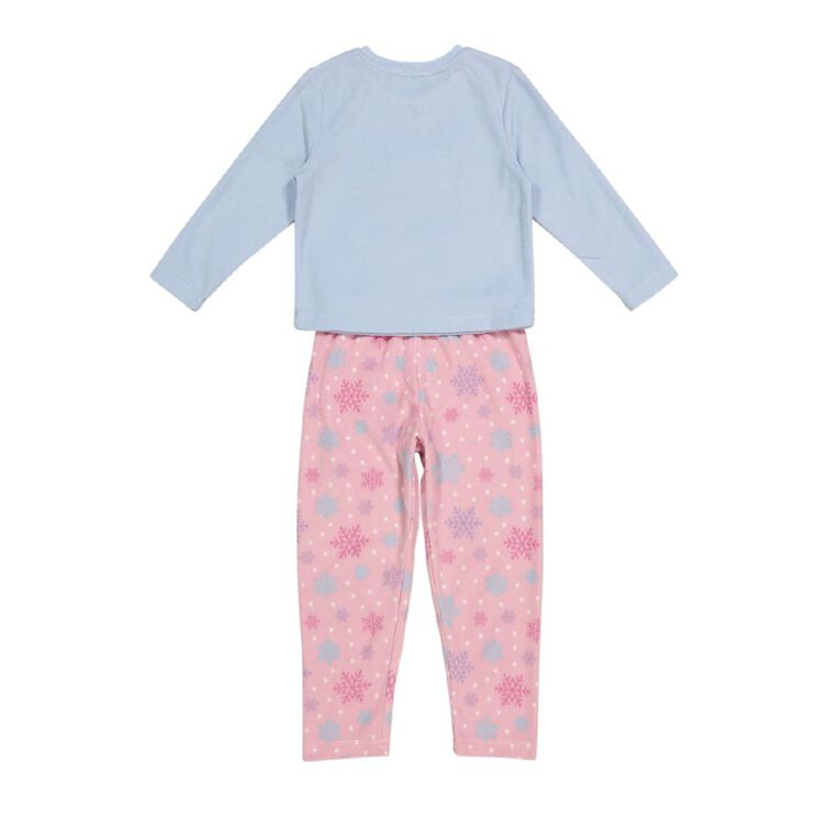 H&H Girls' Fleece Pyjamas, Blue Light, hi-res