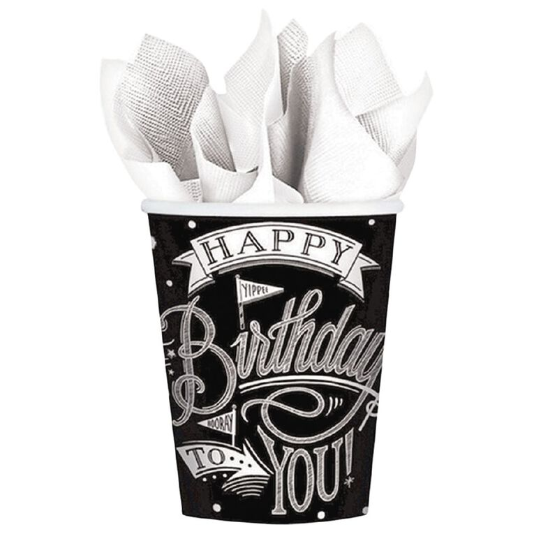 Amscan Hooray Its Your Birthday Cups 266ml 18 Pack, , hi-res