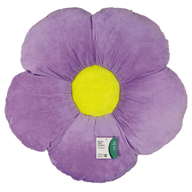 Living & Co Kids Floor Cushion Flower Pink 60cm x 60cm, , hi-res