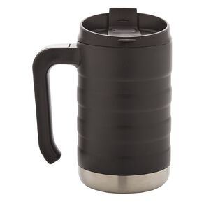 Living & Co Stainless Steel Mug with Handle Black 470ml