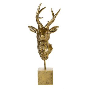 Living & Co Stag Head Ornament 18cm x 16.5cm x 45cm Gold